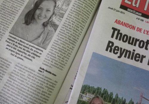 Cassandra Le Maistre est dans la presse